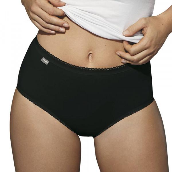 Midislip Cotton Stretch von Playtex in Farbe Schwarz am Modell im Dreierpack