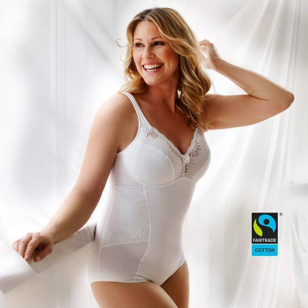 Fairtrade-Body von Swegmark Modell Faithful in Farbe weiß