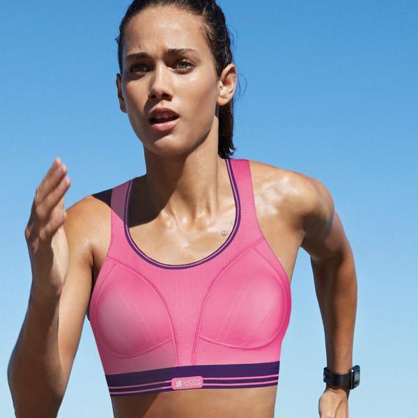 Sport-BH Run von Shock Absorber in Farbe pink-lila