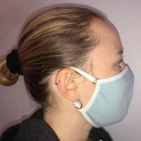 ROSME - 3er-Pack - verstellbare Mund-und Nasenmasken  - 000105 - Hellblau