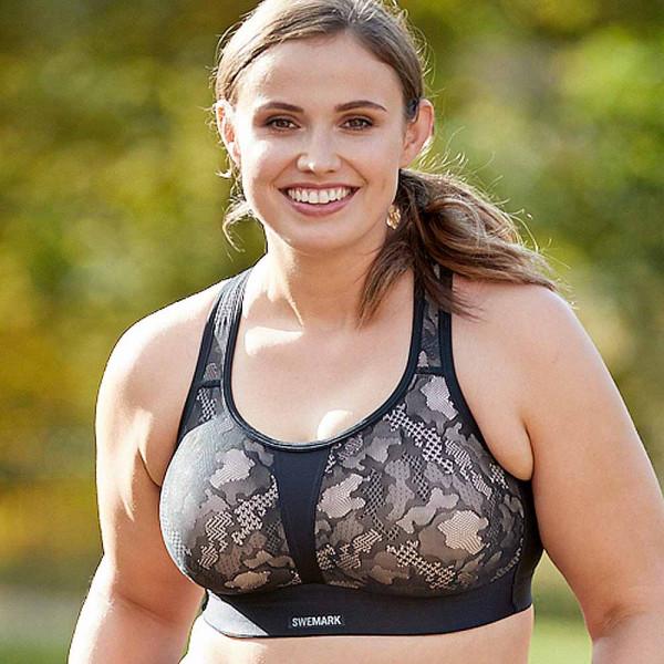 Sport-BH Secure von Swegmark in Farbe schwarz auch für die große Brust