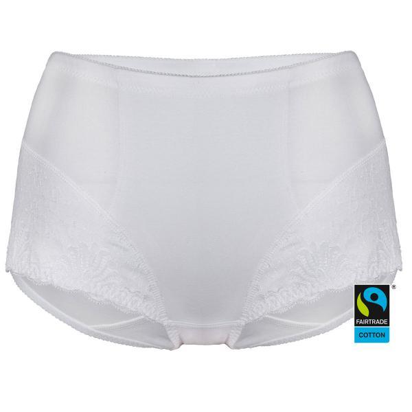 Fairtrade Taillenslip Faithful von Swegmark in Farbe weiß - Vorderansicht