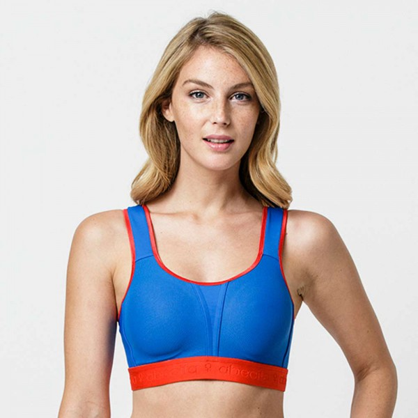 Testsieger Sport-BH Kimberly von Abecita in Farbe blau-rot