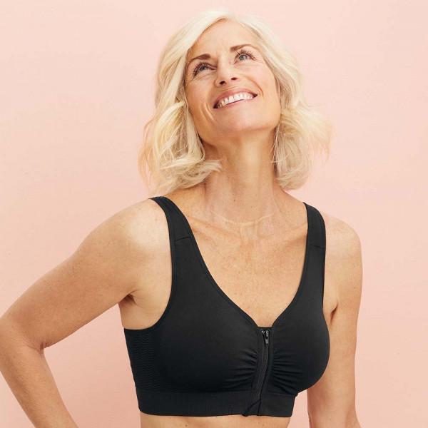 Anita Entlastungs-BH Modell Lynn in Farbe schwarz am Modell