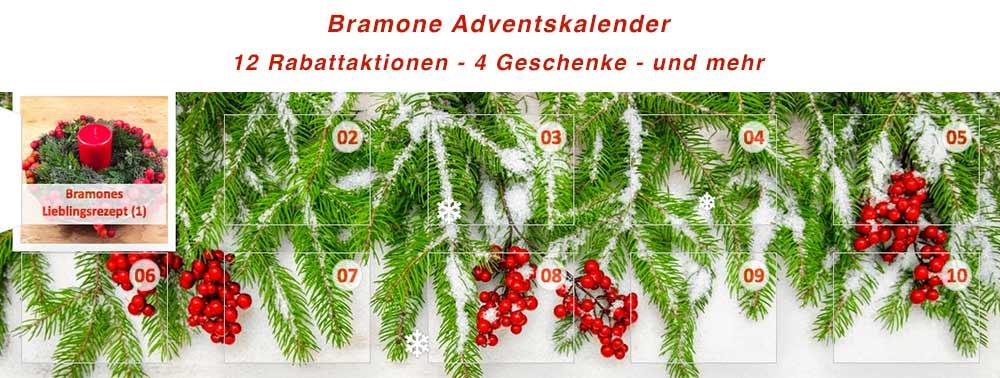 Bramone Adventskalender mit vielen Überraschungen