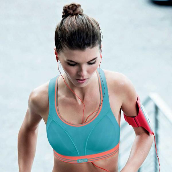 Sport-BH Run von Shock Absorber in Farbe petrol