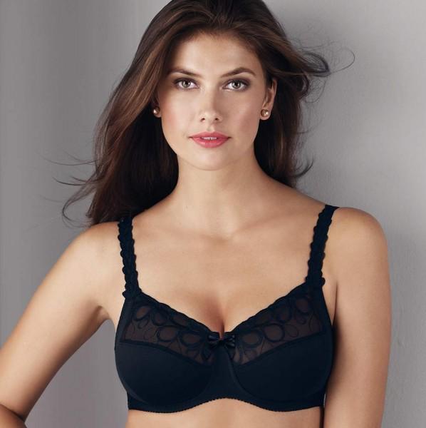 Rosa Faia BH ohne Bügel Modell Lupina in Farbe Schwarz