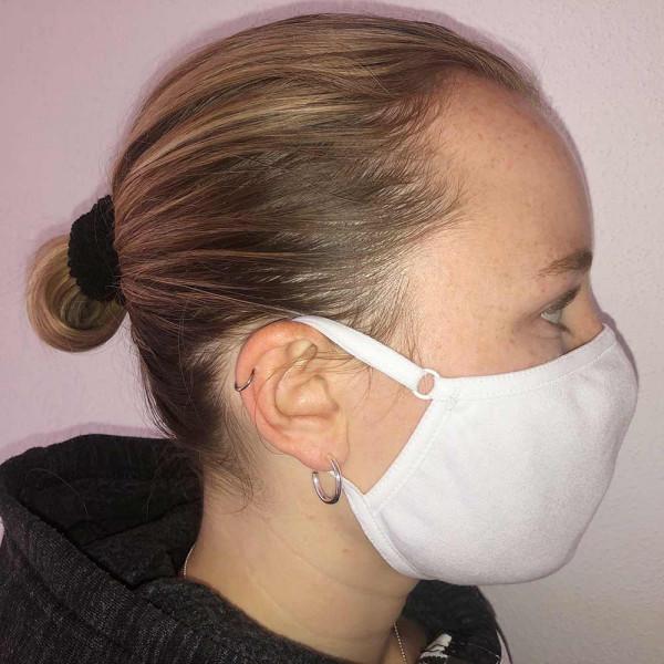Mund- und Nasenmaske von Rosme in weiß