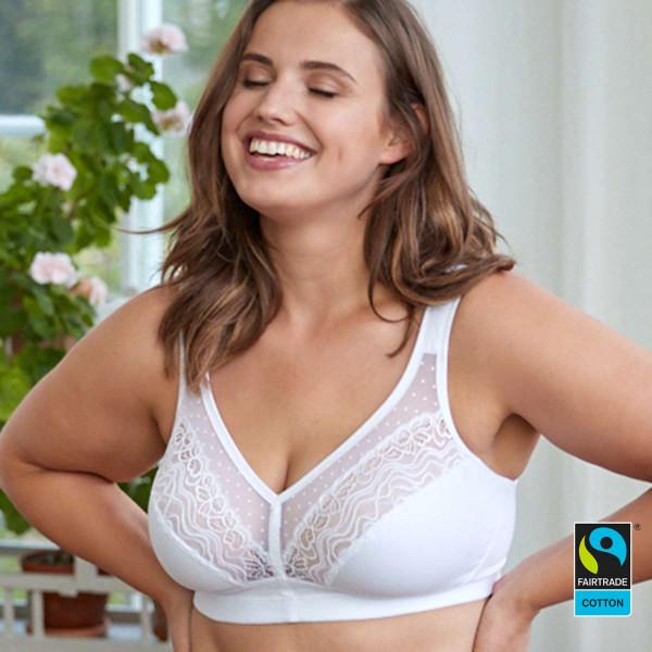 Swegmark Entlastungs-BH Modell Wellness in Farbe weiss - fairtradezertifiziert