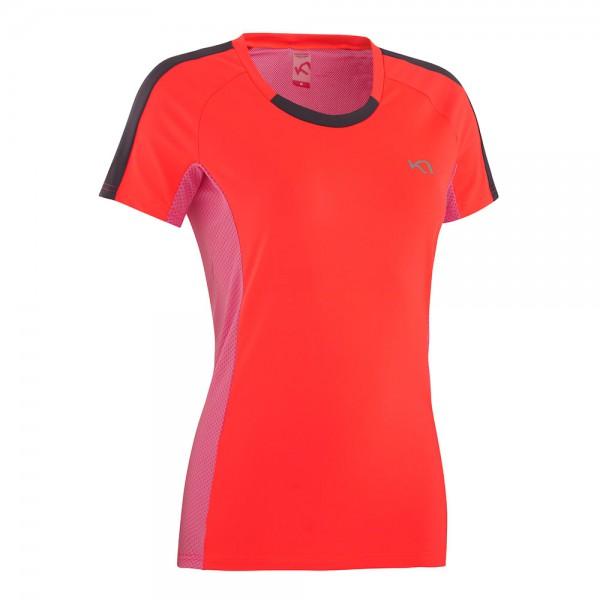 T-Shirt Modell Kristin von Kari Traa für Jogging und Fitness in Farbe coral