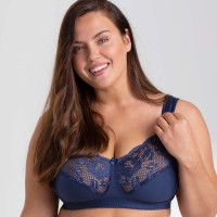 MISS MARY - Lovely Lace - 2105 - BH ohne Bügel - Navy